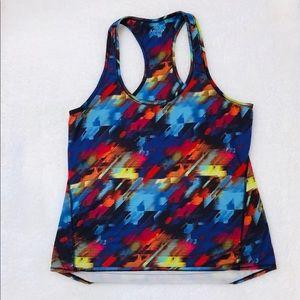 Athleta Workout Yoga Tank Top Multicolored Size L